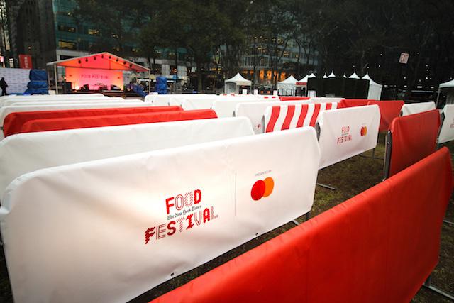 New York Times Food Festival NYT Barriers Bike Racks Barricades 2019 [1]